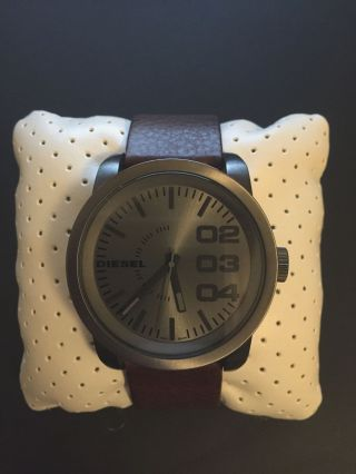 Diesel Herrenuhr Dz1467 Analog Quarz Armbanduhr Lederarmband Ovp Bild