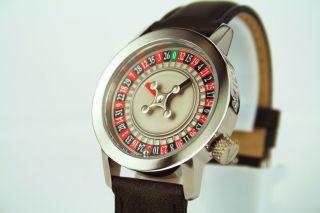 Akteo Uhr - Roulette - Serie Lebensfreude Casino Motivuhr Quarzwerk Bild