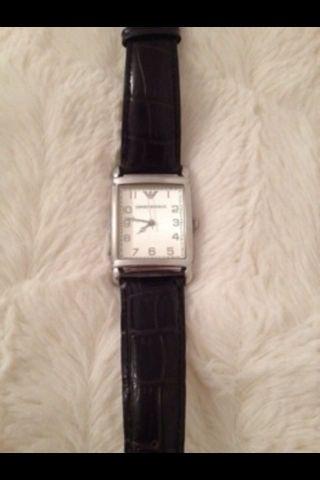 Armani Damenuhr Uhr Ar 0231 Schwarz Kroko Bild