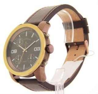 Herren Armbanduhr Croton Braun Leder Sp399190brbr Chronograph Bild