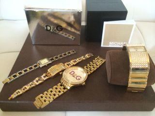 D&g - Michael Kors - Yves Camani Und Co 7stk Uhrenpaket Bild