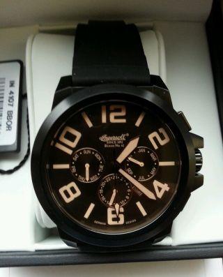 Ingersoll Bison N0.  42 Limited Edition Schwarz In4107bbor Uhr Armbanduhr Bild