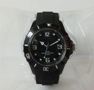 Herrenuhr / Armbanduhr Sempre Colour Watch Farbe Schwarz & Ovp Bild