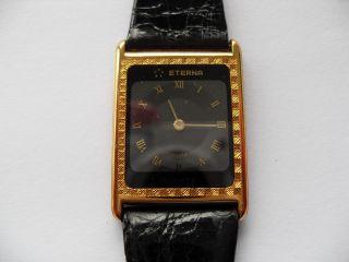 Eterna 18 Karat Gold,  Liebhaberstück,  Limitierte Auflage,  Damen,  Quarz,  Krokoleder Bild