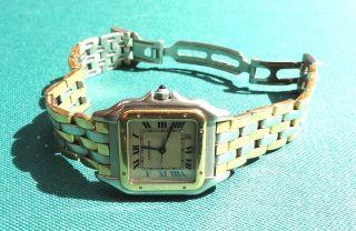 Cartier Panthere Armbanduhr Herrenmodell 3 Reihen Gold Bild