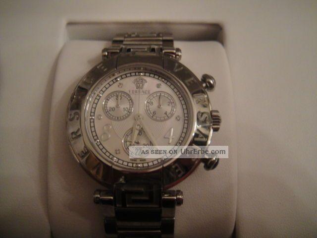 Versace Reve Chrono Herrenuhr Chronograph Ovp Np 1490€ Armbanduhren Bild