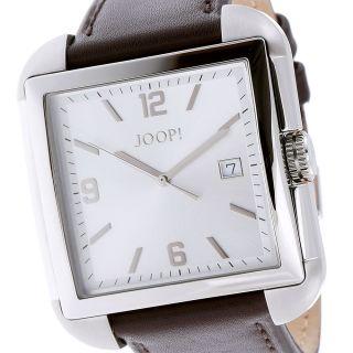Joop Herrenuhr Jp100491f03 Edelstahl Silber Leder Braun Bild