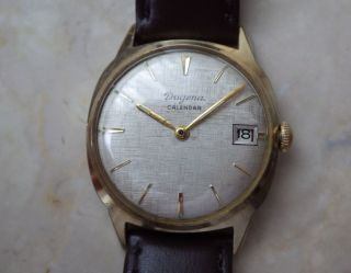 Sehr Seltene Dugena Calendar Arbanduhr Handaufzug Kal.  Otero 712 - Ca.  1960 Bild
