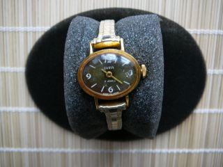 Uhr Damen Uhr Armbanduhr Zaria Gold 70er Jahre Made In Ussr Bild