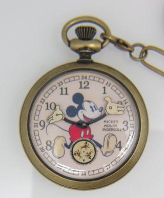 Ingersoll Mickey Mouse Taschenuhr; Referenz: Zr25835 Bild