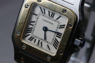 Cartier Santos,  Damenmodell,  Quartzwerk,  Stahlgold,  Avs2701 Dif Rwt1 Bild