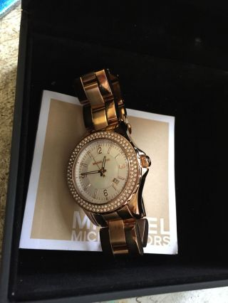 Michael Kors Trendige Armbanduhr Rosegold Für Damen Bild