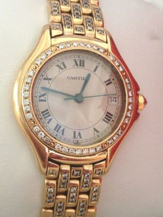 Cartier Cougar 18kt Gold | Diamond | Diamanten | W887907 28mm | Box Und Papiere Bild