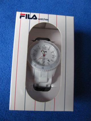 Fila Watch / Uhr,  Unisex,  Weiß,  Silikonarmband Bild