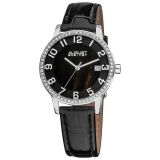 Armbanduhr Damen August Steiner Xxiv As8056bk Swiss Quartz Mutter Perle Bild