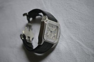 Cartier Santos 100 Xl Chronograph Stahl Ref.  W20090x8 Bild