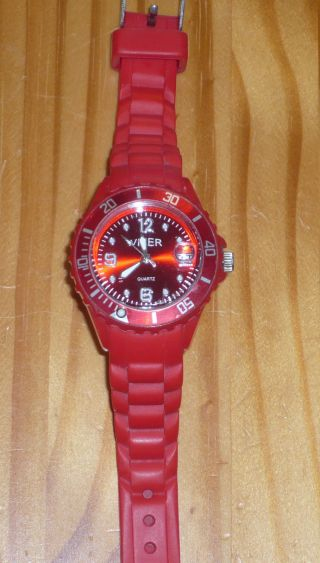 Viper Silikonuhr Watch Silikonband Quarz Sport Datumsanzeige Armband Bild