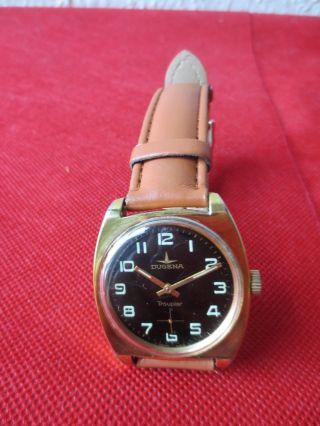 Dugena Troupier Vintage Herren Armbanduhr - Werk 3909 Bild