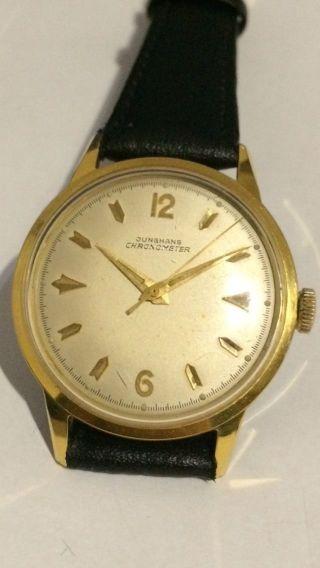 Junghans Chronometer Uhr Gross 43 / 35 Mm Läuft Perfekt Werk 82/1 Bild