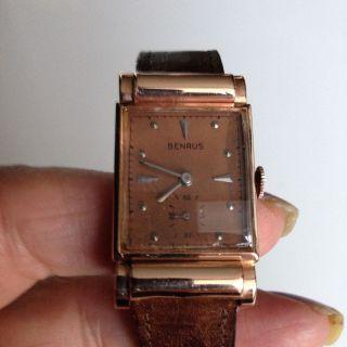 Rosegold - Uhr Klassisch Elegant Von Benrus 1940 Bild