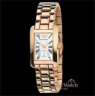Emporio Armani Damen Uhr Ar0174 Armbanduhr Rosegold Klassik Ovp Bild