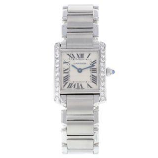 Armbanduhr Damen Cartier Tank Francaise 51008q3.  80 Karat Diamant Quartz Bild