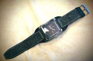 Uhr S.  Oliver Nr.  4309 Breites Lederarmband Neue Batterie Vintage Bild