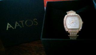 Neue 350 Echte Swarovski Steine Aatos Damen Diamanten Uhr G - Juliusrg Bild