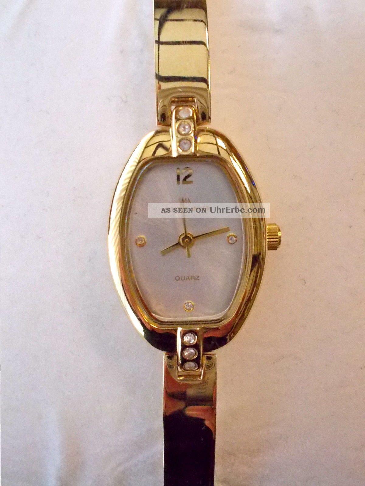Vergoldete Meister Anker 087.  152 5/243 Quarz Damenuhr Armband Uhr Edelstahl Armbanduhren Bild