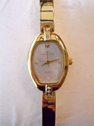 Vergoldete Meister Anker 087.  152 5/243 Quarz Damenuhr Armband Uhr Edelstahl Bild