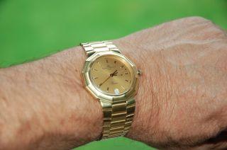 Baume & Mercier Herrenuhr ' Riviera ' 18 Kt 750 Gelbgold Mit Goldarmband 100,  9 Gr. Bild