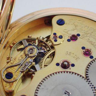 A.  Lange & SÖhne 1a Savonette Diamantdeckstein 109g Gold Taschenuhr Bild