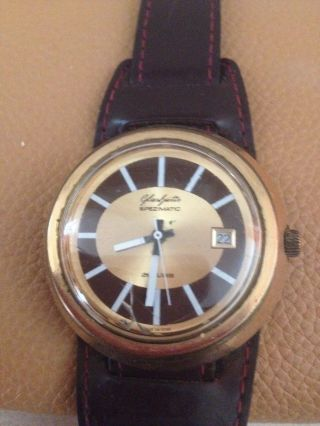 Gut Erhaltene Glashütte Spezimatic Uhr / 26 Rubis - 14 Kt - Made In Gdr Bild