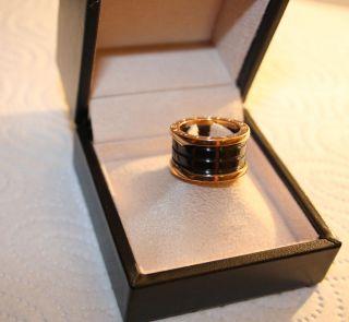 100 Orig.  Bulgari Ring B Zero 1,  4 Band,  750 Gold,  Gr.  51/16 Mit Originalboxen Bild
