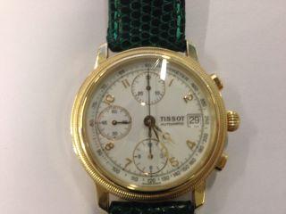 Tissot Automatik Chronograph In 585er Gold Mit Lederband - Traumzustand - Bild