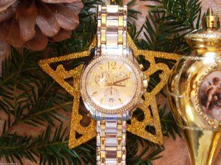 Michael Kors Uhr Armbanduhr Chronograph Mk5603 Bicolor & Bild
