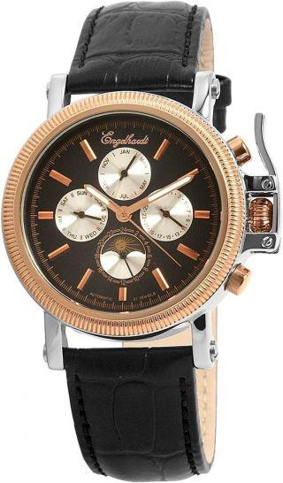Engelhardt Herren - Uhren - Automatik - Skeletuhr - Kaliber 10.  300 - Leder Bild