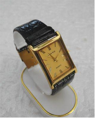 Damen Uhr - Leder Optik Uhrband Schwarz Mit Steinchen - Dornschließe - X - Mas Bild