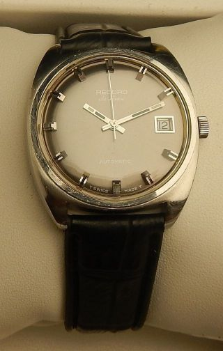 "Vintage Armbanduhr Automatic ""record De Luxe"" In Edelstahl – Cal.  Eta 2622 Bild"