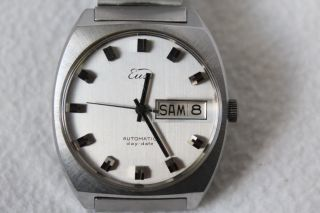 Vintage Eusi,  Eugen Siegele Automatic Day - Date 25 Jewels Armbanduhr.  Autorotor Bild