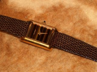 Sammler Handaufzug Cartier Tank Uhr & Seltenes Zifferblatt Bild