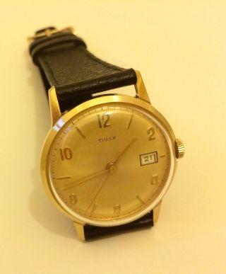 Timex Hau Um Bauhaus - Stil (wie) Mit Datum Auf 3 Uhr / Echtlederband Bild