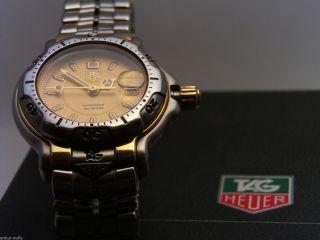 Damen Tag Heuer 6000 Series Wh1353 Ss/gp 18k Gold Quartz Bild