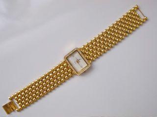 Uhr Damenuhr Armbanduhr Metall Goldfarben Mit Steinchen Modeschmuck Uhr Bild