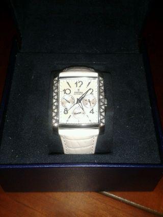 Festina Damen Uhr Armbanduhr F16524 Weiss Chronograph Multifunktion Leder Bild