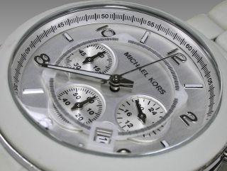 Michael Kors Uhr Logo Mk 8108 Xxl Luxus Schneeweiß Bild