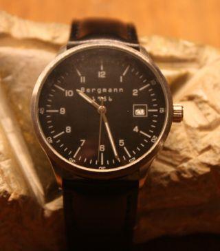 Bergmann - Armbanduhr 1956 Rund Edelstahl - Gehäuse 3atm Und Ungetragen Bild