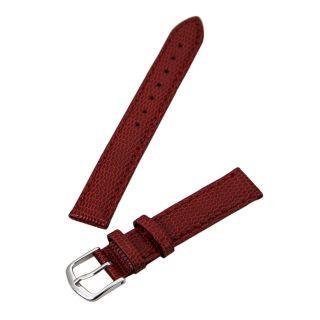 Hadley Roma Rot 14 Mm Breit Java Eidechse Maserung Leder Band Bild