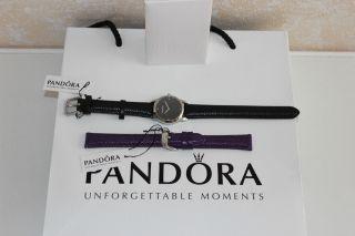 Pandora Fleur Damenuhr Armbanduhr Uhr Schwarz Mit Geschenk Bild