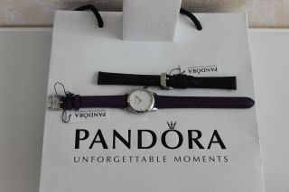 Pandora Fleur Damenuhr Armbanduhr Uhr Weiß Mit Geschenk Bild